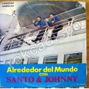 SANTO Y JOHNNY, ALREDEDOR DEL MUNDO CON SANTO Y JOHNNY, LP 12´,