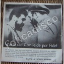 CARTA DEL CHE LEIDA POR FIDEL CASTRO EP 7´, DOCUMENTAL,