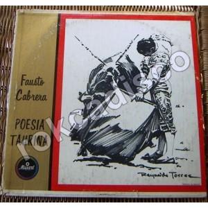 FAUSTO CABRERA, POESIA TAURINA, LP 12´, ESPAÑOLES